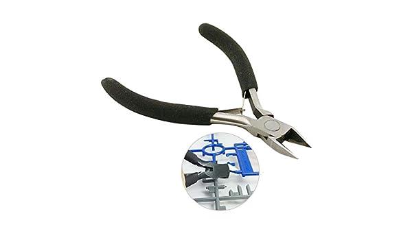 Espeedy Pinzas cortadoras de alambr,11CM cortador diagonal de acero mandíbula recta de corte lateral Snips Flush alicates Nipper Cable eléctrico de alambre ...