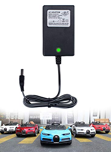 LinkePow 12V Charger for Kids Ride On Car, 12 Volt Battery Charger for Mercedes Benz BWM Audi Maserati Children Powered Ride On Toys Battery Power Adapter ()