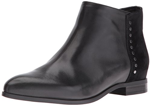 Nine West Women's Ovine Leather Boot, Black, 7 M US