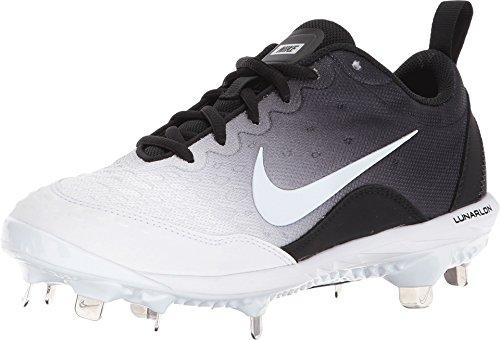 Nike Women's Lunar Hyperdiamond 2 Pro Fastpitch Softball Cleats(Black/White, 6.5 B(M) US) (Fastpitch Cleats Metal)