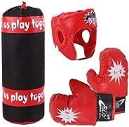 Kids Boxing Set,Punching Bag Kit Boxing Heavy Punching Bag Heavy Punching Bag Punching Mitts Training Youth Gl