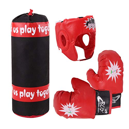 Mokylor Children Youth Boxing Kit Fitness Set---Kids Punching Bag, Glove,Helmet for Children Fitness Adults De-Stress