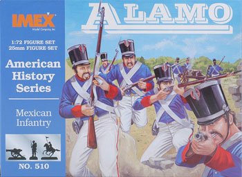 Mexican Infantry Alamo American History Figures Set 1/72 Imex
