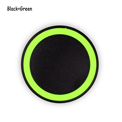 Phoneix Wireless Power Charger Quick Charging Pad for Samsung S8 Plus S8 S7 Edge S6 Black Green