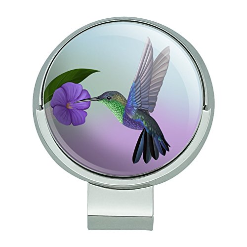 GRAPHICS & MORE Hummingbird Crowned Woodnymph Purple Violet Golf Hat Clip with Magnetic Ball Marker