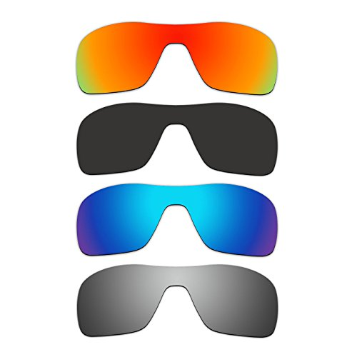 4 Pair ACOMPATIBLE Replacement Polarized Lenses for Oakley Turbine Rotor Sunglasses OO9307 Pack - Turbine Rotor