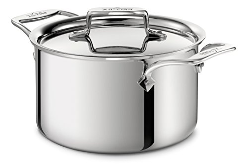 All-Clad 4303 Stainless Steel Tri-Ply Bonded Dishwasher Safe Casserole with Lid Cookware, 3-Quart, Silver