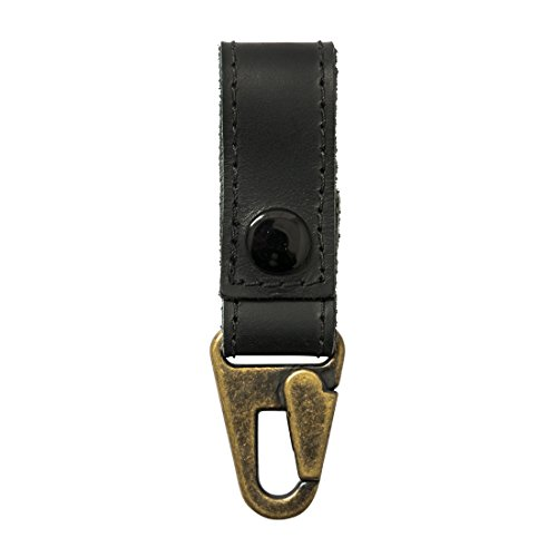 Rustic Leather Key Ring Holder Handmade by Hide & Drink :: Charcoal Black by Hide & Drink (Image #1)