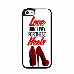 Love Don't Pay For These Heels - 2-Piece Dual Layer High Impact Phone Case Back Cover (iPhone 4/4s)