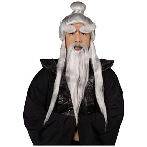 InCharacter Sensei Wig, Beard & Brows Set Costume Accessory Kit -
