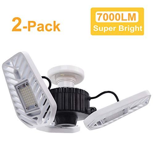 HUNHUN 2-Pack LED Garage Lights, Deformable LED