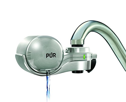 PUR Advanced Plus Horizontal Faucet Water Filter (Silver Matte)