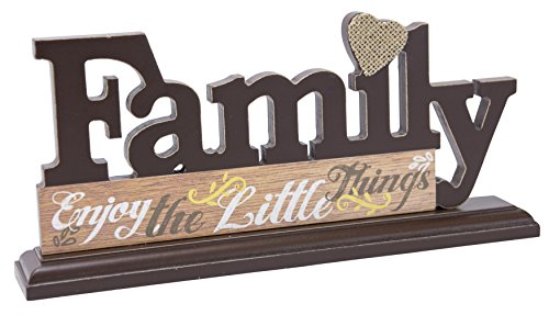 Family- Enjoy the Little Things Wood Pallet Wall Art Plaque, 12.5x5-Inches