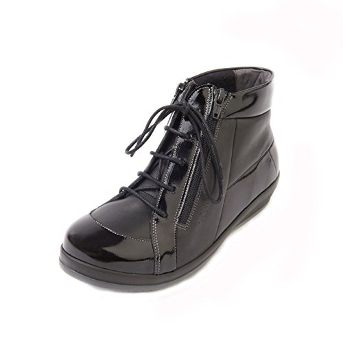 Fit Sandpiper 4e Heel Black Diabetics Women's Wide 3cm Suitable 6e Patent Extra For 'bayton' Boot qFnrHZF0B
