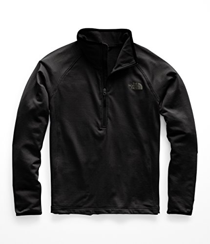 Hoodies Zip Over Face - The North Face Men's Borod Quarter Zip - TNF Black - M