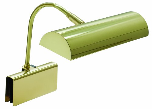 Lamp Piano Adjustable Grand (House Of Troy GPH10-PB Grand Piano 10-Inch Portable Halogen Lamp, Polished Brass)