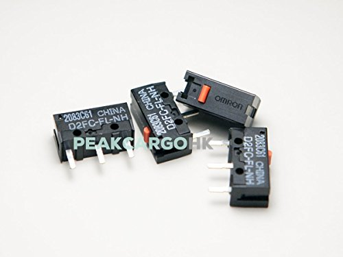 QTY 4 OMRON D2FC-FL-NH Ultra Subminiature Micro Switches for RAZER Logitech APPLE Microsoft Mouse G400 G700