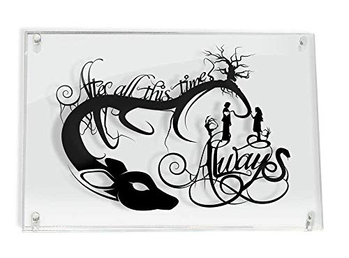 Always Snape and Lily Harry Potter After All This Time - FRAMED hand cut paper art