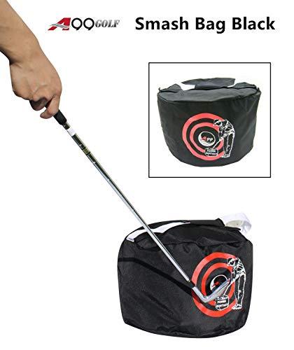 A99 Golf Power Smash Contact Bag Swing Trainer Pratice Training Aid Black ()