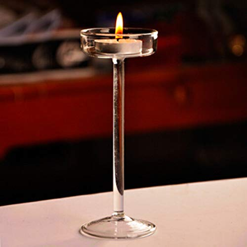 SaveStore European Handmade Glass Crystal Tall candlesticks Home Decoration -
