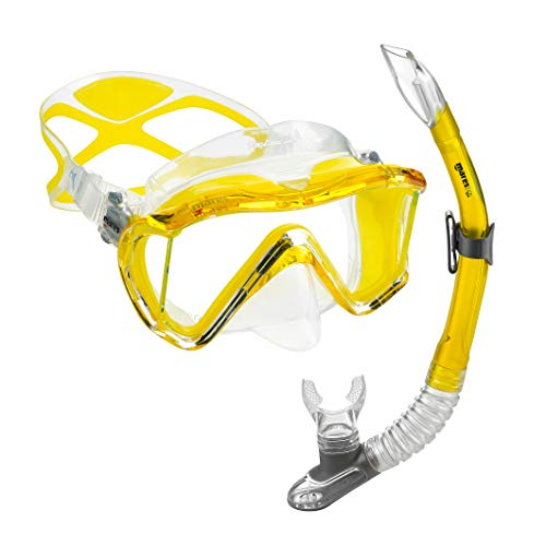 (Mares Scuba Snorkel Set, i3 Liquidskin Mask and Semi Dry Snorkel | Great for Scuba Diving, Snorkeling, Surfing and)