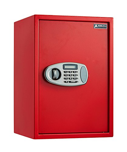 AdirOffice Security Safe with Digital Lock - Red - 2.32 Cubic Feet by Adir Corp. (Image #9)