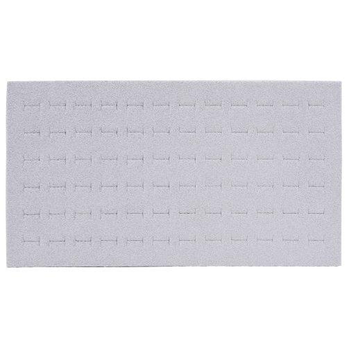 Gray Velvet Flocked 72 Ring Insert Foam Pad Fits Standard Sz Trays & Cases Grey