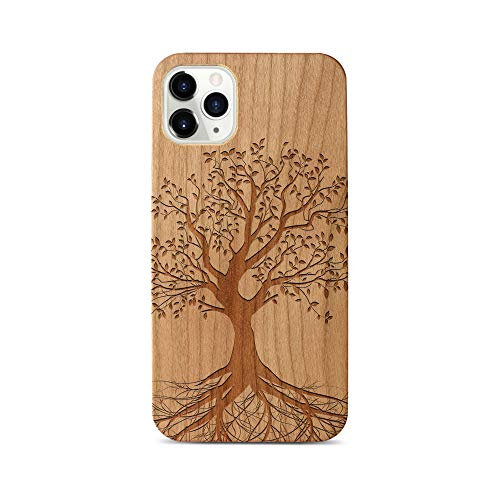 iPhone 11 Case by Case Yard Fit for iPhone 11 6.1-Inch [ 2019 Release ] Shock-Absorption iPhone 11 Phone Cover Cherry Wood iPhone 11 Cases Tree