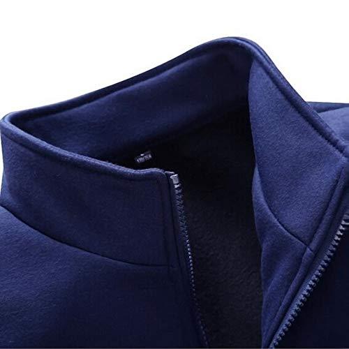 Clearance Sale!Realdo Men's Athletic Tracksuit Set Warm Running Jogging Sportwear Sweat Suit (XXX-Large,Dark Blue) by Realdo (Image #3)
