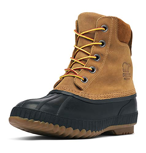 Sorel Men's Cheyanne II Snow Boot, Chipmunk, Black, 9 D US
