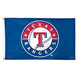 WinCraft MLB Texas Rangers 01795115 Deluxe Flag, 3' x 5'