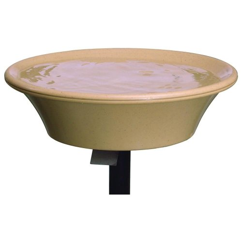 Allied Precision 14 in. Heated Bird Bath with EZ-Tilt Deck/Pole Mount (Heated Birdbath Deck)