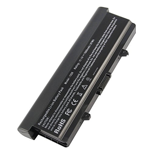Fancy Buying® New Extended Replacement Laptop Battery for Dell Inspiron 1526 1525 1545 1546 - Li-ion, 11.1V, 7800mAh, 87wHr, 9 cells - 1 Year (Cell Li Ion Replacement Laptop)