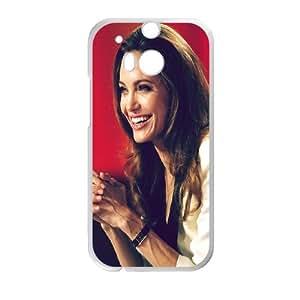 HTC One M8 Cell Phone Case White Angelina Jolie Yczzw