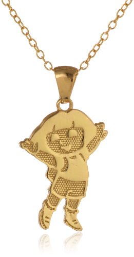 Nickelodeon Gold Over Sterling Silver Dora Pendant Necklace with 18