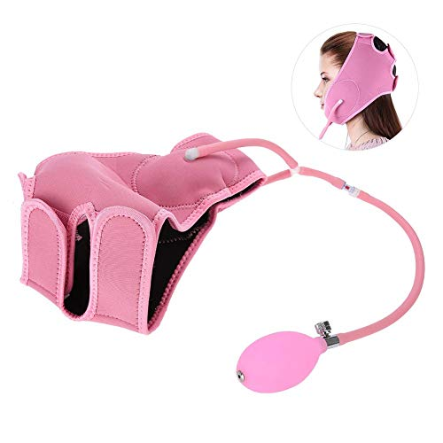 Filfeel Face Slimming Massage Belt, Airbag Facial Lifting Mask Thin Massager Beauty Care Tool Pink