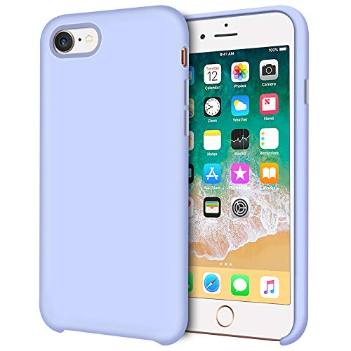 iPhone 8 Case, iPhone 7 Case, Anuck Anti-slip Liquid Silicone Gel Rubber Bumper Case Soft Microfiber Lining Slim Hard Shell Shockproof Protective Case Cover for iPhone 7 / iPhone 8 4.7