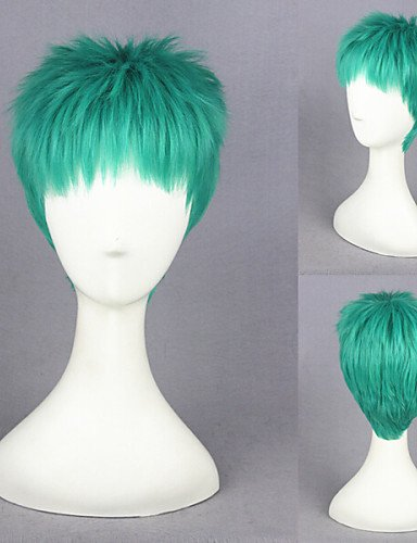 One Piece-Roronoa Zoro Green Anime Cosplay Wigs (Zoro Fancy Dress)