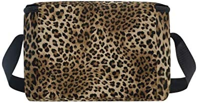 Animal Tiger Leopard Print Insulated Cooler Ice Lunchbox Tote Bag for Women Men Boys Girls JOYPRINT Lunch Box Bag