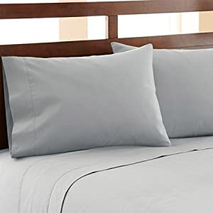HC COLLECTION-Hotel Luxury Bed Sheets Set 1800 Series Platinum Collection, 4pc Deep Pocket, Wrinkle & Fade Resistant, Hypoallergenic (Cal King, Arctic Ice Blue)