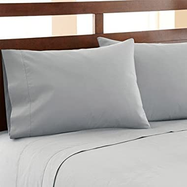 HC COLLECTION-Hotel Luxury Bed Sheets Set 1800 Series Platinum Collection, 4pc Deep Pocket,Wrinkle & Fade Resistant, Hypoallergenic (Queen,Blue-Gray)
