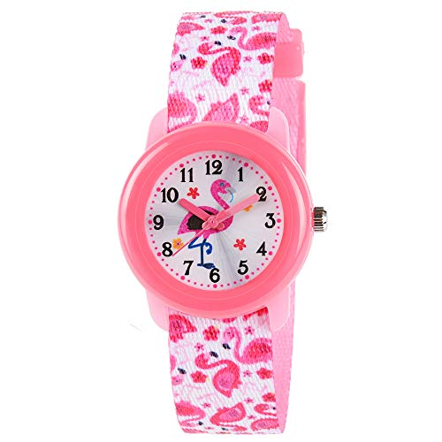 38a28359 Venhoo Kids Watches Cute Cartoon Waterproof Fabric Strap Children Toddler  Wrist Watch Time Teacher Birthday Gift
