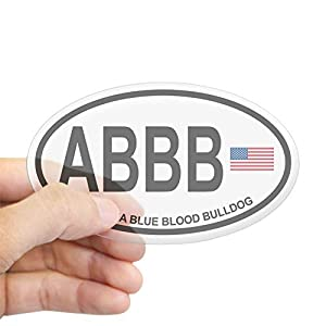 CafePress Alapaha Blue Blood Bulldog Oval Bumper Sticker, Euro Oval Car Decal 9