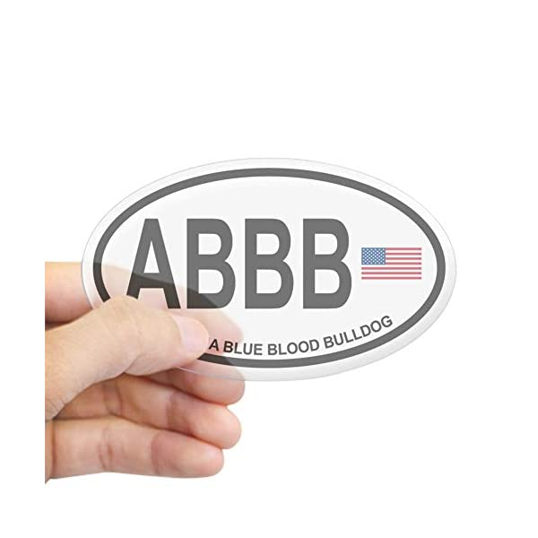 CafePress Alapaha Blue Blood Bulldog Oval Bumper Sticker, Euro Oval Car Decal 1