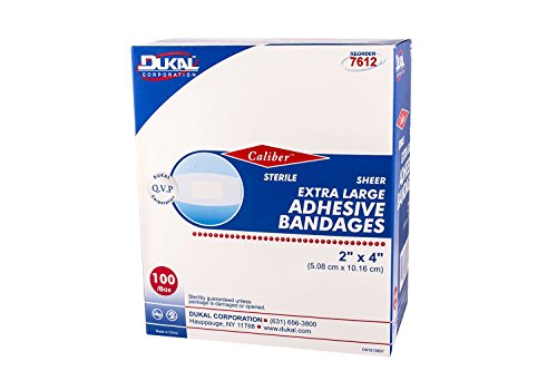 Dukal 7612 Sheer Bandage, Adhesive, X-Large, Sterile, 2'' x 4'' (Pack of 2400) by Dukal (Image #4)