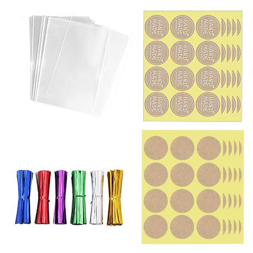 200 Cellophane Small Plastic Treat Bags 3x4 with 200 4