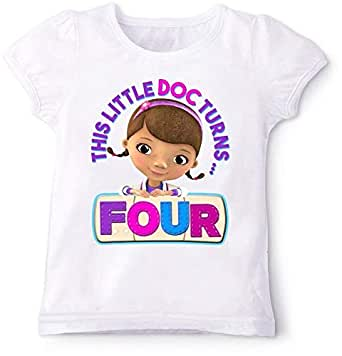 Doc Mcstuffins This Little Doc Turns Four Birthday T-Shirt