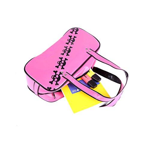 Totenkopf-Handtasche-Skull Gothic Rockabilly Bowling Bag mit Reißverschluss in drei Farben 22292-003-000 oykAKwJ