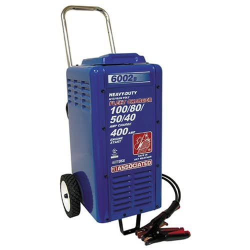 Image of Associated Equipments 6002B 6/12/18/24V 100/80/50/40 Amp 400 Amp Charger Cranking Assist with Wheels Battery Chargers