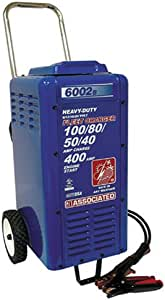 Associated Equipments 6002B 6/12/18/24V 100/80/50/40 Amp 400 Amp Charger Cranking Assist with Wheels